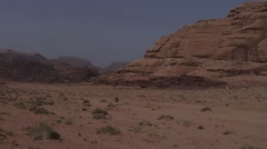 Lonely man in desert Stock Footage