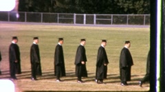 High School Graduation Ceremony Gowns STUDENTS 1960s Vintage Film Home Movie 642 Stock Footage