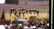 Stock Video Footage of High School GRADUATION Ceremony 1965 (Vintage 8mm Film Home Movie Footage) 643