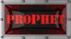 prophet on led - stock footage