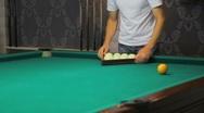 Play billiards Stock Footage
