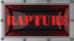rapture on led - stock footage