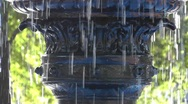 Water Fountain close up pan Stock Footage