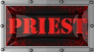 Priest on led Stock Footage