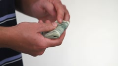 Counting Currency - stock footage
