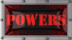 powers on led - stock footage