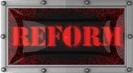 Reform on led Stock Footage