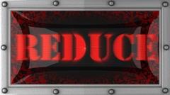 reduce on led - stock footage