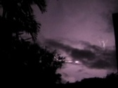Stock Video Footage of Thunderstorm cloud to cloud lightning 16x9 V1