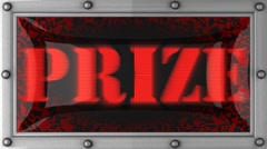 Stock Video Footage of prize on led