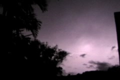 Thunderstorm Tropical Lightning 4xThunderstorm cloud to cloud lightning 4x3 V2 Stock Footage