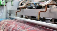 Automatic washing and cleaning of carpets Stock Footage