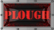 Plough on led Stock Footage