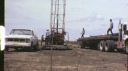 Oil Gas Exploration Men Drilling Well Fracking 1960s Vintage Film Home Movie 695 Stock Footage