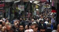 Stock Video Footage of Turkey Istanbul old town shopping street