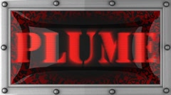 Stock Video Footage of plume on led