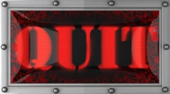quit on led - stock footage
