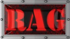 Stock Video Footage of rag on led