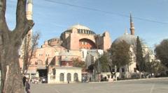 St. Sophia (Hagia Sophia). Stock Footage