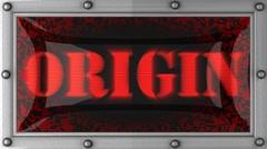 origin on led - stock footage