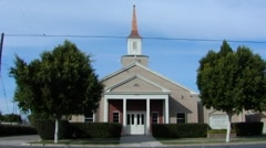 Small Town Church 1 Stock Footage