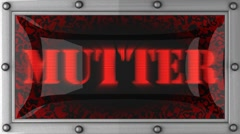 Mutter on led Stock Footage