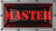 Master on led Stock Footage