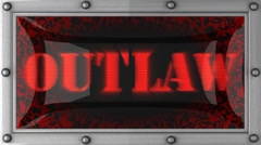 Outlaw on led Stock Footage