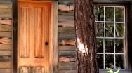 Stock Video Footage of Cabin Door and Window 01