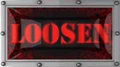 Loosen on led Stock Footage