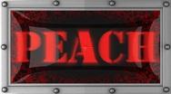 Peach on led Stock Footage