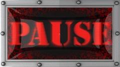 pause on led - stock footage
