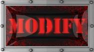Modify on led Stock Footage