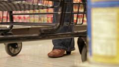 Shopping Cart in Store - Dolly Stock Footage