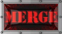 merge on led - stock footage