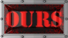 ours on led - stock footage