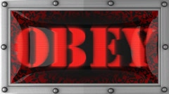 obey on led - stock footage