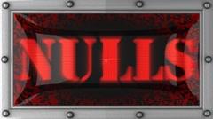 Nulls on led Stock Footage