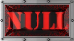 Null on led Stock Footage