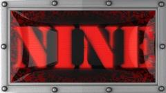Stock Video Footage of nine on led