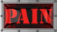 Pain on led Stock Footage