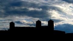 Finland Olavinlinna castle 3 Stock Footage