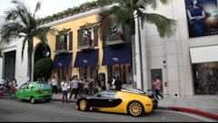 Rodeo Drive, Beverly Hills Stock Footage