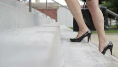 Business Woman in Heels - Dolly Shot Stock Footage
