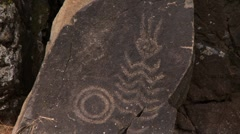Native american petroglyph Stock Footage