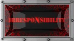 irresponsibility on led - stock footage