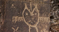 Native american petroglyph Stock Footage