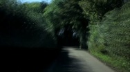 Driving cornwall back country roads Stock Footage