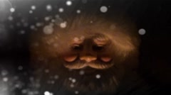 Santa Claus In Snow Storm Stock Footage