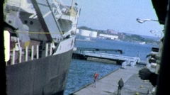 Commercial Shipping Erie Canal FREIGHTER Cargo 1960 Vintage Film Home Movie 704 - stock footage